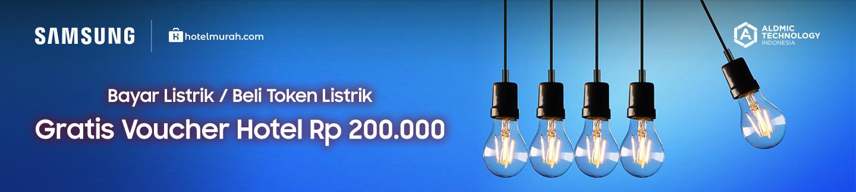 Bayar Listrik / Beli Token Listrik Gratis Voucher Hotel Rp 200.000
