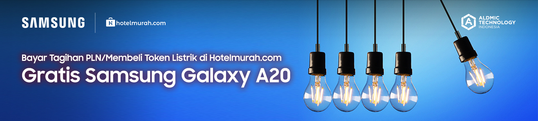 Bayar Tagihan PLN / Membeli Token Listrik di Hotelmurah.com Gratis Samsung Galaxy A20