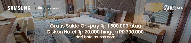 Gratis Saldo Gopay Rp 1.500.000 atau voucher hotel Rp 20.000 hingga Rp 300.000