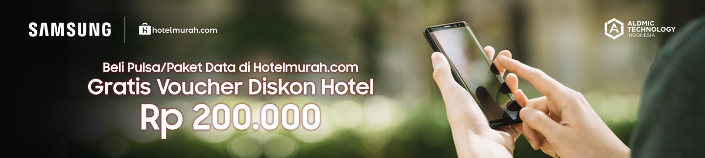 Beli Pulsa/Paket Data di Hotelmurah.com Gratis Voucher Hotel Rp 200.000