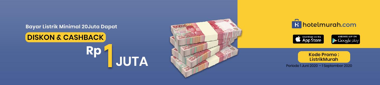 Bayar Listrik Minimal 20jt Dapat Diskon &Cashback total 1jt