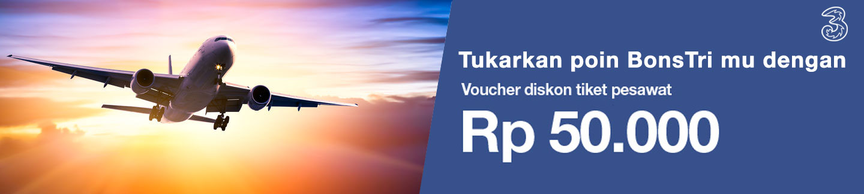 Promo Diskon Tiket Pesawat Rp. 50.000, Stok Voucher Terbatas!