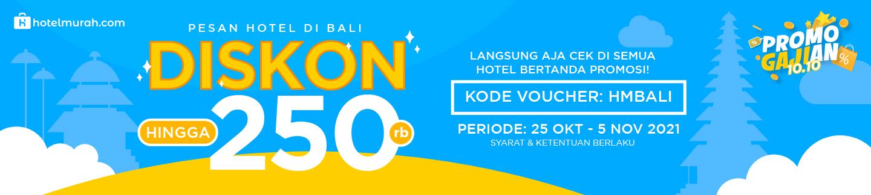 Promo Gajian 10.10 - Diskon Hotel Hingga Rp 250.000 di Bali