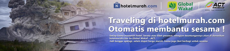 Traveling di hotelmurah otomatis membantu sesama !